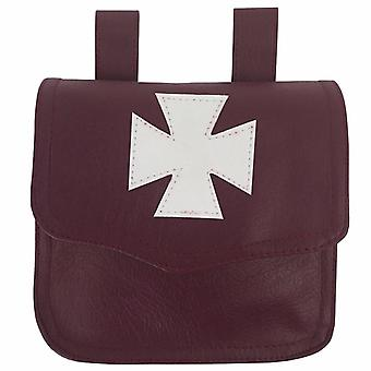 Knights Templar Alms Bag Brown
