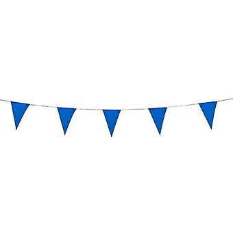 Union Jack Wear Blue Pennant Bunting 5 Metres Plastic Bunting 8-quot; Par 12-quot; Triangles