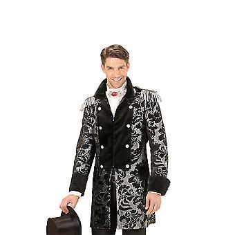 Manteau de parade jacquard argenté