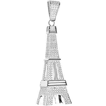 Premium Bling - 925 sterling silver Eiffel Tower pendant