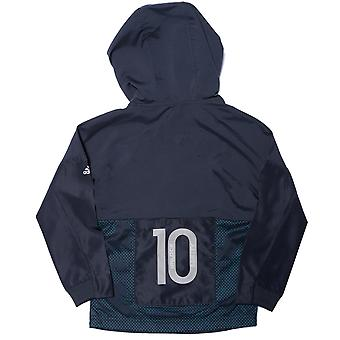 Infant Boys adidas Messi Half Zip Hoody In Charcoal- Half Zip To Collar- Ribbed