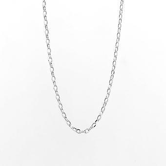 Eternity 9ct valkoinen kulta 18 ' ' Diamond Cut Belcher ketju