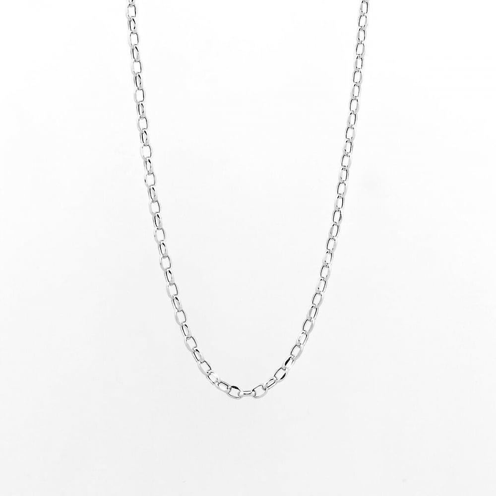 Eternity 9ct White Gold 18'' Diamond Cut Belcher Chain