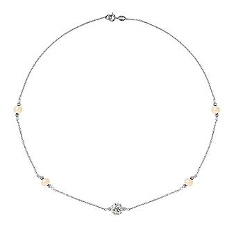 Ruusu, kristalli ja hopea kulttuuri Daistod kaula koru 925