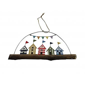 Shoeless Joe Beach Hut Hanger Nautical Decoration