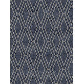 Opulent Shimmer Diamond Geometric Wallpaper Blue Holden Decor 65381