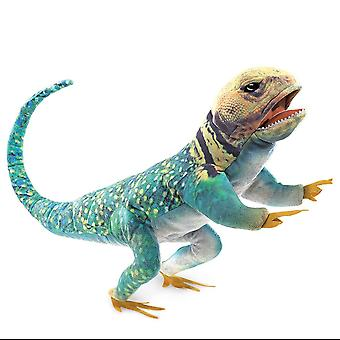 Hand Puppet Folkmanis Lizard Collared Puppet Toys Soft Doll Plush 3063