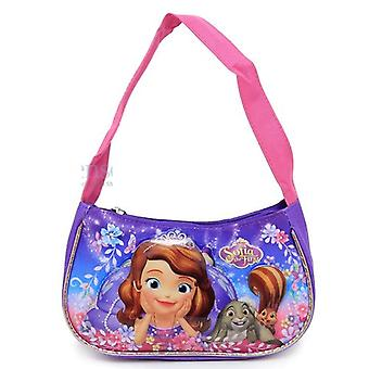 Hand Bag - Sofia The First - Pink Purple Floral New 665128