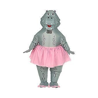 Hippo Ballerina (Airblown aufblasbare übergroße Kostüm/Maske)