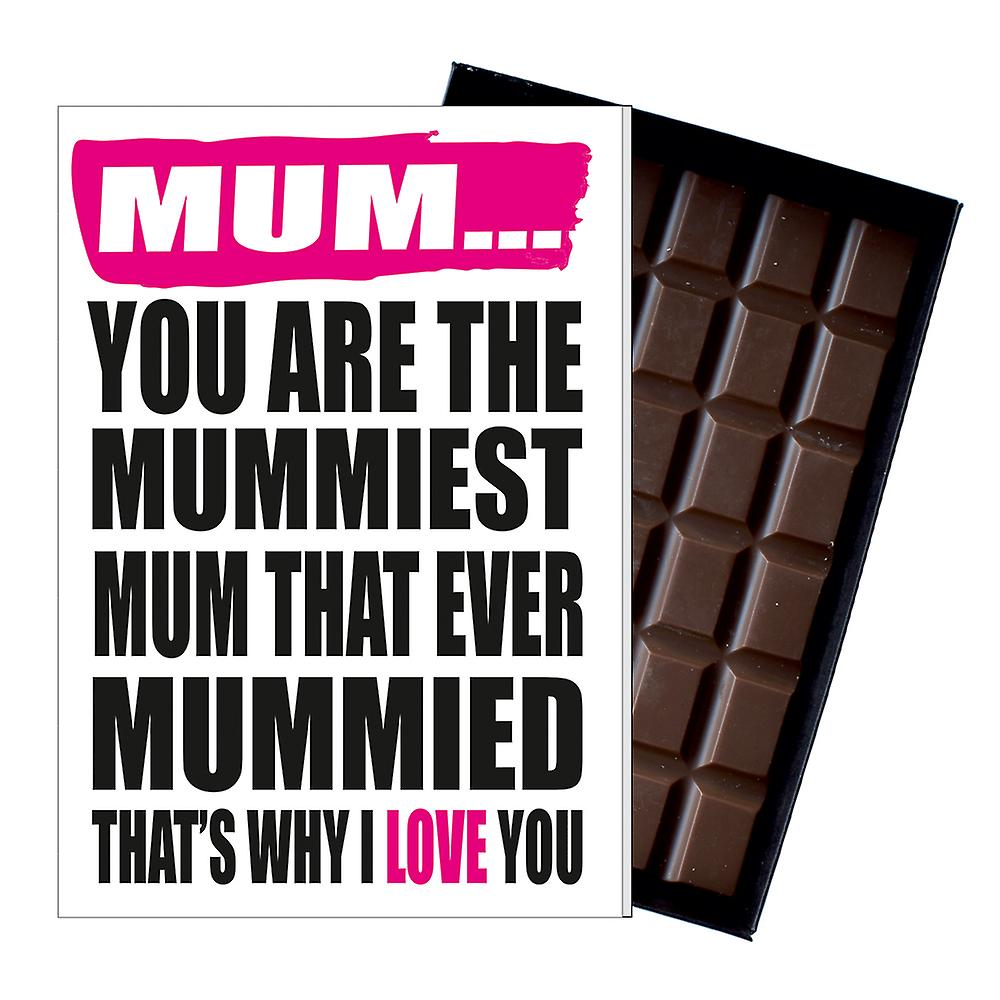 Funny Birthday Mother's Day Gift for Mum Mummy Boxed Chocolate Greeting Card IYF160