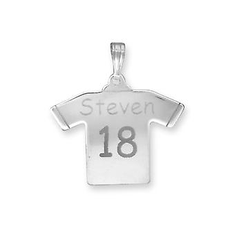Jewelco London Men's Solid Sterling Silver Identity Nameplate Necklace