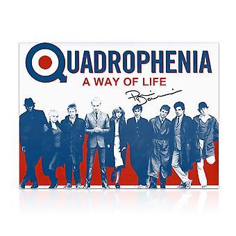 Phil Daniels podpisany plakat Quadrophenia: Sposobu życia