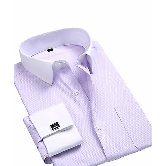 Allthemen Men's Business Casual Shirt Spring&Autumn Slim Fit Long Sleeve Shirt