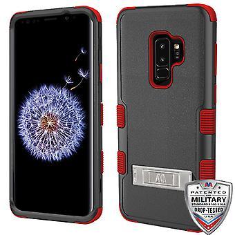 MYBAT Natural musta/punainen TUFF Hybrid Puhelin suojelija suojus Galaxy S9 Plus