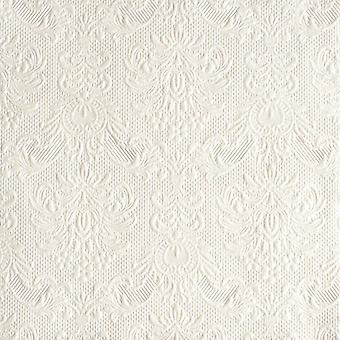 Ambiente 3 Ply Paper Napkins, Elegance Pearl White