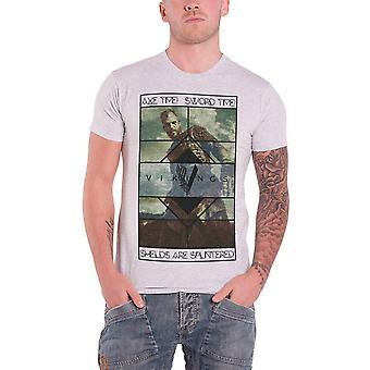 Vikings Axe Time Official Mens New Grey T Shirt