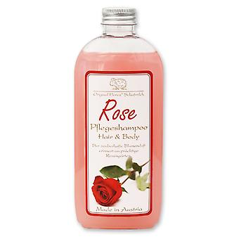 Florex Care Shampoo Hair & Body Rose with sheep's milk delicate and soft skin supple hair 250 ml