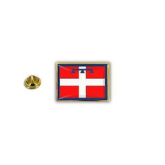 Pine Pines PIN rinta nappi PIN-apos; s metalli epoksi perhonen hyppysellinen lippu Italia Piemont