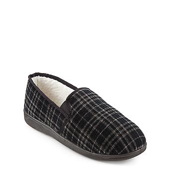 Chums Mens Thermal Lined Slipper Met Outdoor Sole