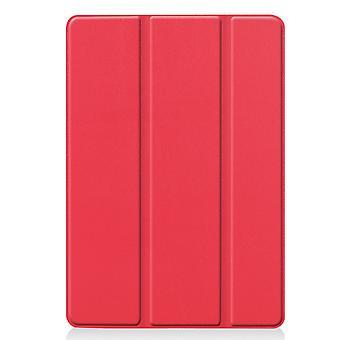 Apple iPad 10.2 2019 Slim Fit Dreifache Gehäuse-rot