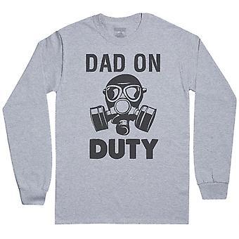 Dad On Duty - Mens Long Sleeve T-Shirt