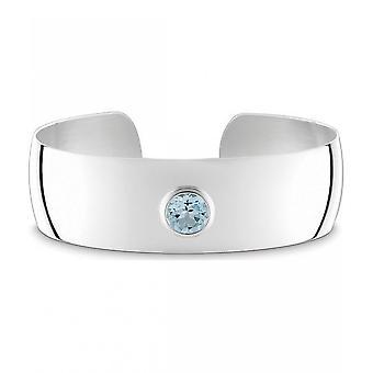 Quinn-sølv mansjett med blå topas, klassikere & Co-029011958