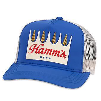 Chapeau de camionneur bleu de cru de bière de Hamm-apos;s