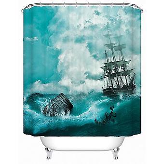Abandon Ship(!) Shower Curtain