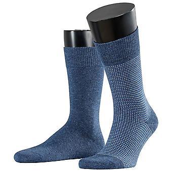 Esprit kontrahe Pique 2-Pak sokker-Enzian blå
