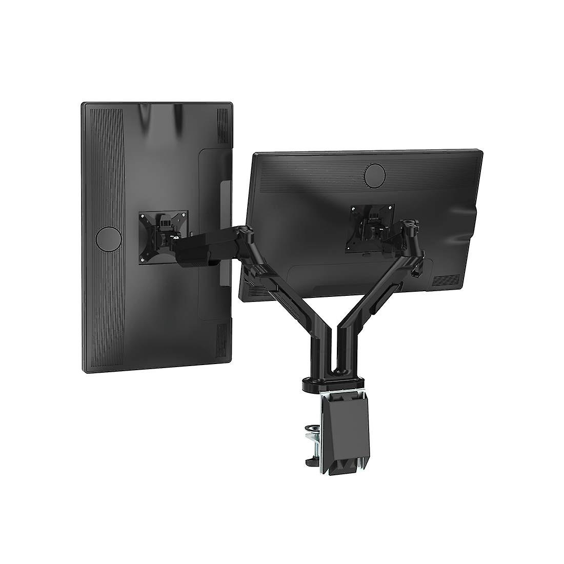 Full Motion dual arm Desk monitor mount stand past 17