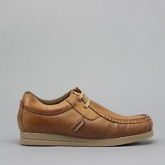 Base London storm menns Leather Moccasin sko Tan