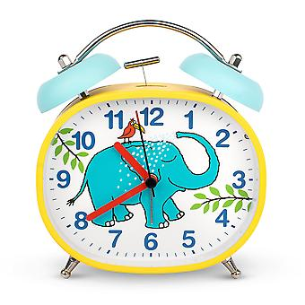 Tyrrell Katz Elephant Design Children's Alarm Clock · Twin Bell · Silent Tick