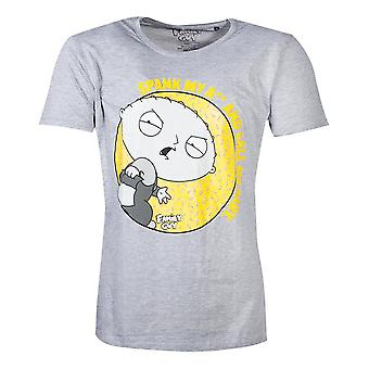 Family Guy Stewie Spank T-Shirt Male Large Grey (TS432677FOX-L)