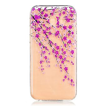 Galaxy A5 Hull (2017) Transparent Flexible Pattern Japanese Flowers - Crazy Kase