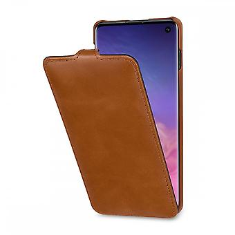 Case For Samsung Galaxy S10 Ultraslim In True Leather Cognac