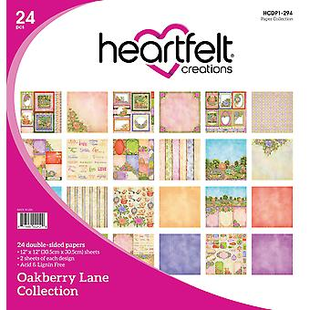 "Heartfelt Creations Double-Sided Paper Pad 12""X12"" 24/Pkg-Oakberry Lane, 12 Designs/2 Each"