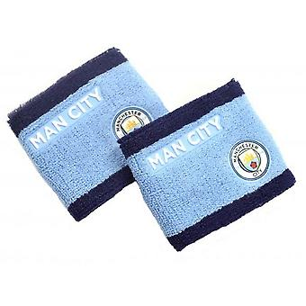 Manchester City FC Crest Wristband (Pack of 2)