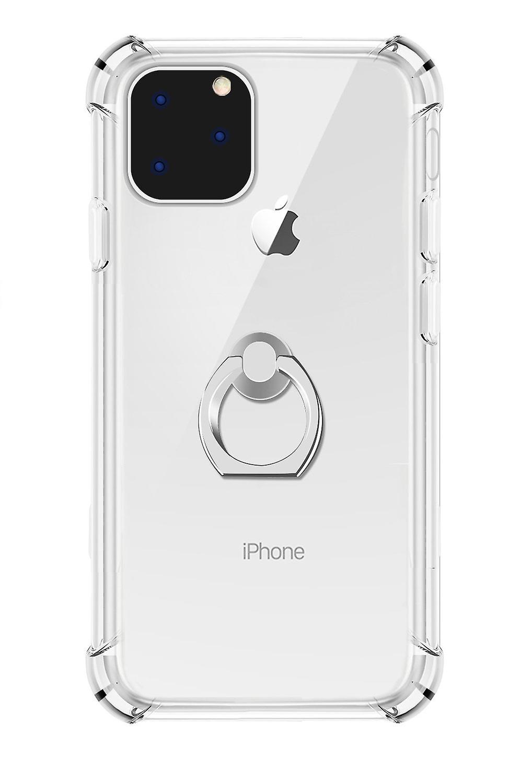 Transparent Ring Holder Case for iPhone 11 Pro