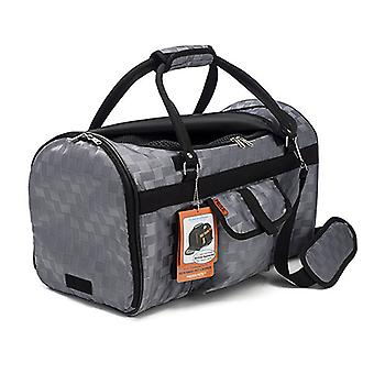 Prefer Pets 312 Delux Hideaway Duffel Carrier For Dogs & Cats - Silver