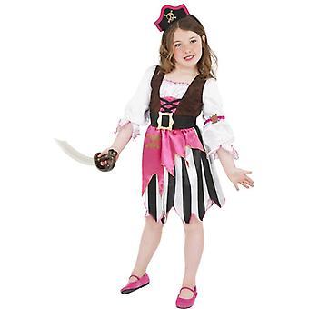 Pink Pirate Girl, Medium Age 7-9