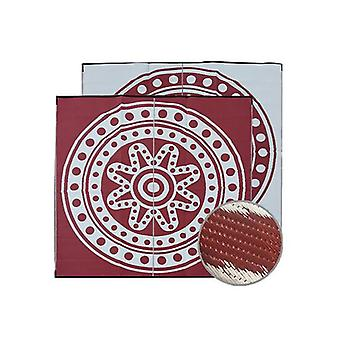 Circle Time Aboriginal Design Recycled Mat Burgundy And White