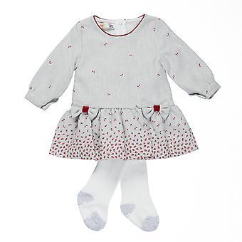 Babybol Abito grigio per bambini - collant