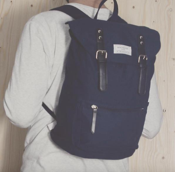 Backpack from Winchester Of Sweden Olive canvasleather