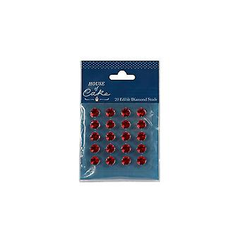 House of Cake Ruby Jelly Diamonds Pack Of 20 Gems