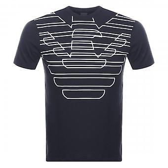 Emporio Armani Eagle Logo T-Shirt Navy Blue 3G1T69