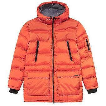 NICCE Nicce Fino Burnt Orange Hooded Puffa Coat