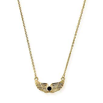 ChloBo Guld og Iolite Sky Lineal halskæde
