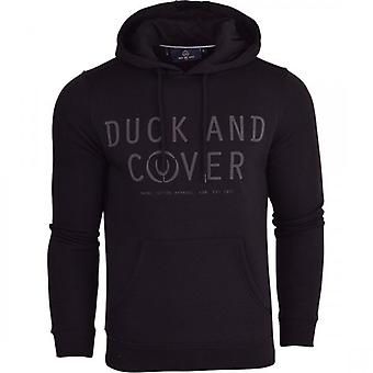 Duck and Cover Duck And Cover Mens Designer 'Copenhagen' Casual Hooded Logo Top Hoody trui vest