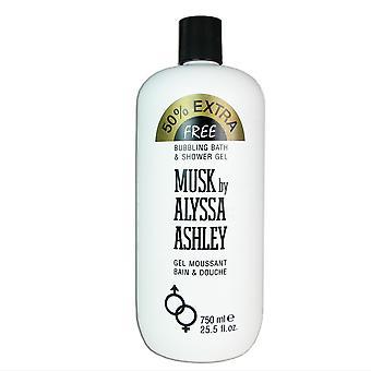 Musk by alyssa ashley 25.5 oz bubbling bath & shower gel