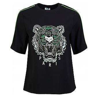 Kenzo Crepe Camiseta de Tigre de Espalda